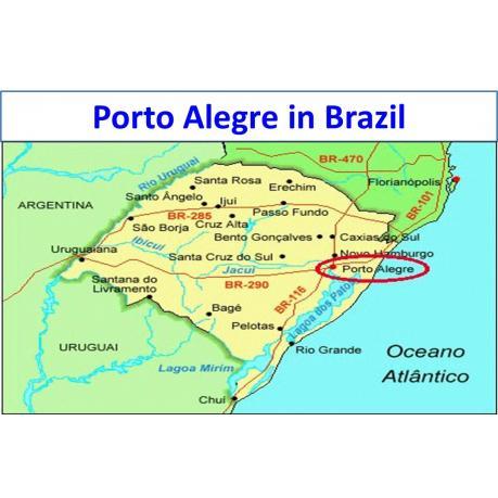 Map - Porto Alegre in Brazil