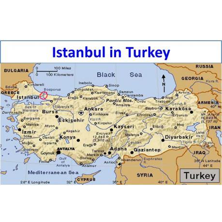 Map - Istanbul in Turkey
