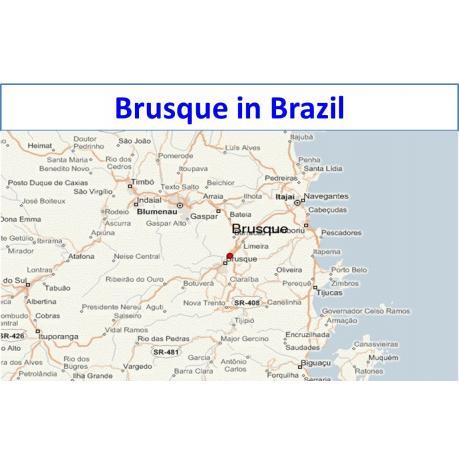 Map - Brusque in Brazil