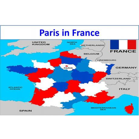Map - Paris in France