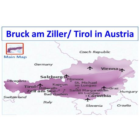 Map - Bruck am Ziller (Tirol) in Austria