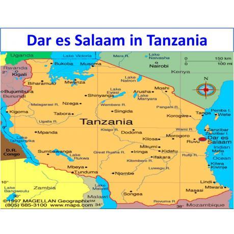 Map - Dar es Salaam in Tanzania