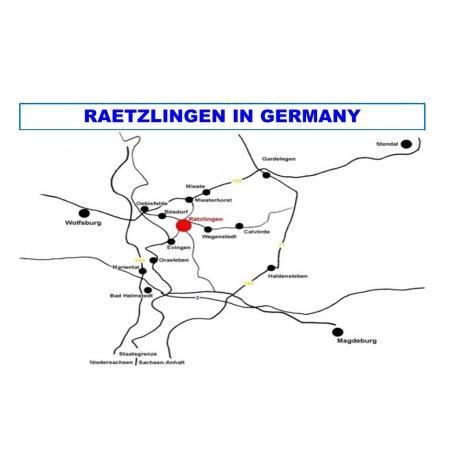 Map - Raetzlingen in Germany