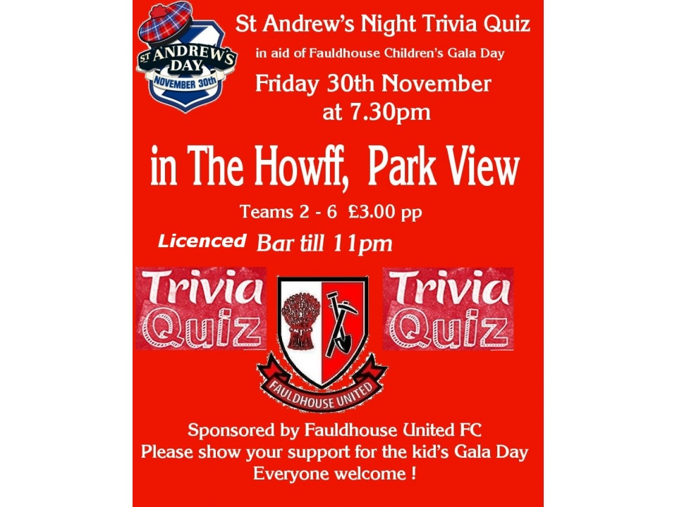 St Andrew's Night Trivia Quiz