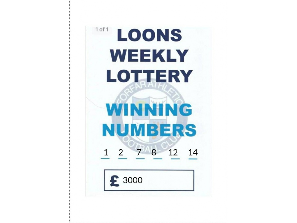 Final Loons Lottery Draw